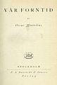 Montelius, Vår forntid (1919) titelblad.jpg