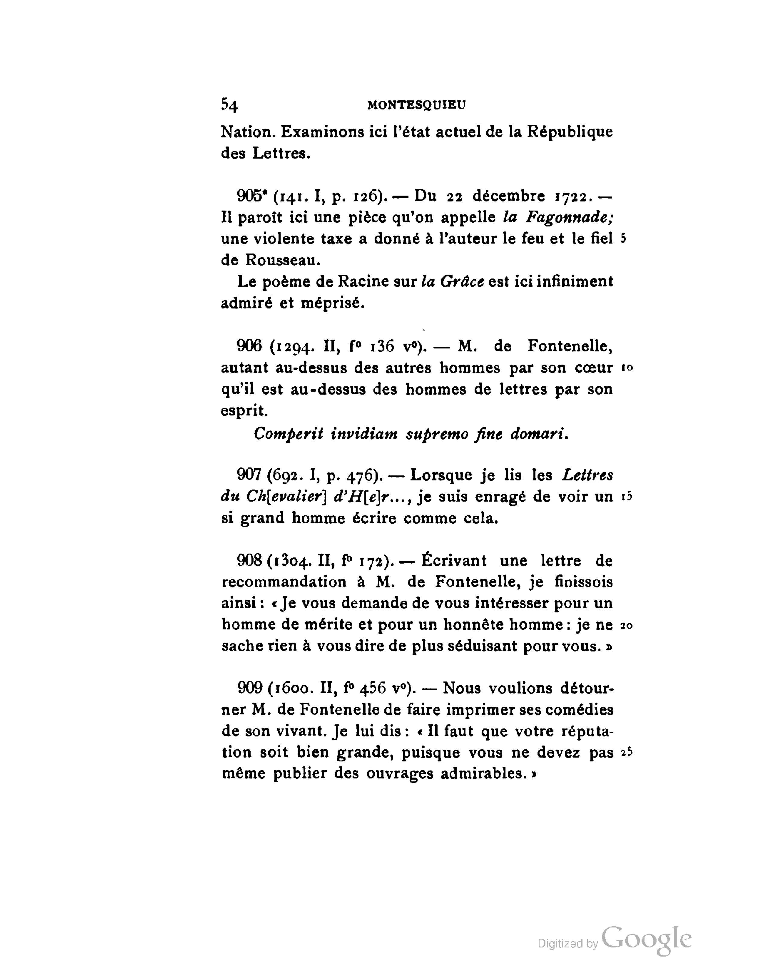 Pagemontesquieu Pensées Et Fragments Inédits T2 1901