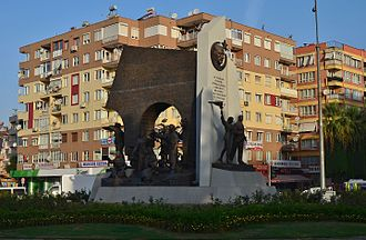 Aydın - Monument to Turkish War of Independence in Aydın.