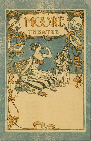 John Cort (impresario) - Graphics for a program from Cort's Moore Theatre, Seattle, circa 1907