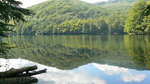 """Vihorlat-Gutin Area - Lake Morské oko (""""Eye of the Sea""""), in the Vihorlat Mountains of Slovakia"""