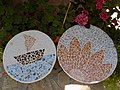 Mosaic tables from reused old tiles.jpg