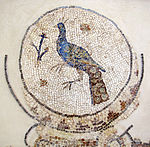 Mosaico paleocristiano con pavone, 02.JPG
