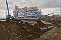 Moscow, construction of North-East Tangent - Shyolkovskoe Shosse interchange (21059952068).jpg