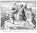 Moses holding up his arms during the Battle of Rephidim, assisted by Hur and Aaron.jpg