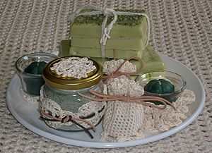 A selection of handmade Mother's Day gifts. *B...