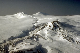 Mount Westdahl - Summit area of Westdahl volcano, February 1993