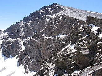 The Mulhacen, the highest peak in the Iberian Peninsula Mulhacen north face.JPG
