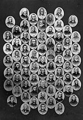 Multi-portrait of seventy ministers