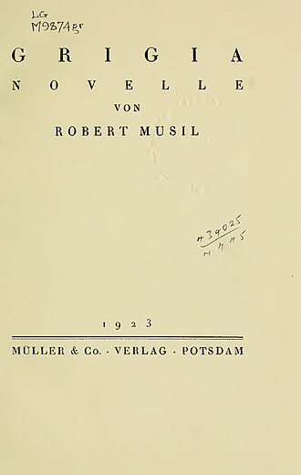 Robert Musil - Grigia (1923)