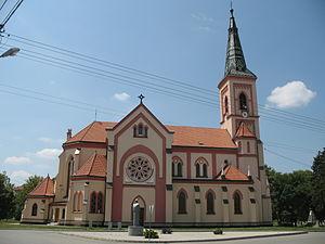 Trstice - catholic church in the village