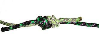 Double fisherman's knot - Image: Nœud de pêcheur double serré