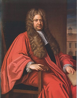 Thomas Gibson (artist) - Nathaniel Lloyd, in a painting after Thomas Gibson, in Lincoln College, Oxford.