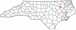 Location of Hamilton, North Carolina