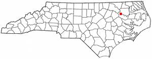 Hamilton, North Carolina - Image: NC Map doton Hamilton