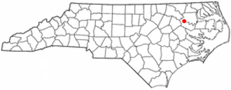 Hamilton, North Carolina - Image: NC Map doton Hamilton