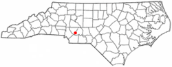 Location of Stanfield, North Carolina