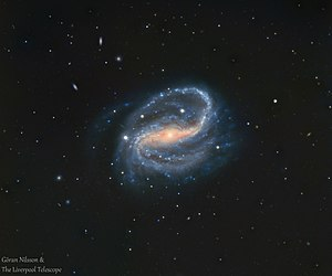 NGC 7479 - RGB image of the galaxy NGC 7479 from an earthbound telescope, the Liverpool Telescope