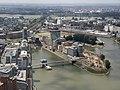 NRW, Düsseldorf, Rheinturm - view to Hafen.jpg