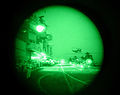 NVG view of marines diembarking HMS Ark Royal, for operations in Iraq. 21-03-2003 MOD 45142902.jpg