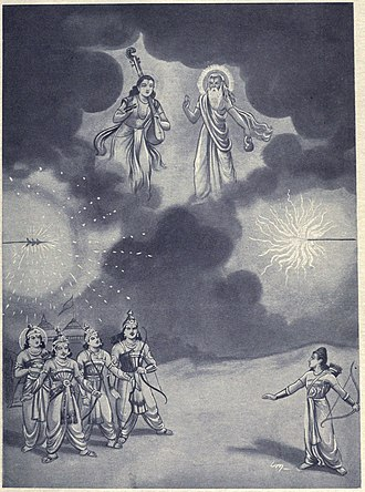 Ashwatthama - Narada and Vyasa came to stop Brahmashirsha astra used by Ashwatthama and Arjuna