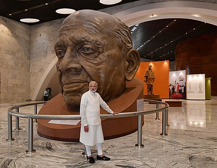 Image result for Prime Minister Narendra Modi in the museum within the complex of statue of unity