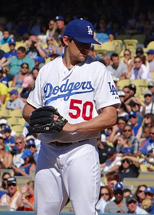 Nathan Eovaldi - Eovaldi pitching for the Los Angeles Dodgers in 2012