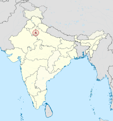 National Capital Territory of Delhi in India (special marker) (disputed hatched).svg
