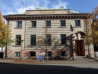 Domkirkepladsen 1 former bank building in Aarhus