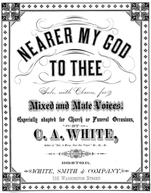 Nearer, My God, to Thee - 1881 sheet music cover