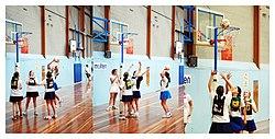 Un juego de baloncesto juvenil en Australia.