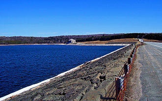 Neversink Reservoir - South end, from the dam