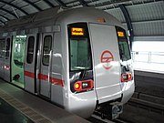 Delhi metro, operated by the Delhi Metro Rail Corporation Limited