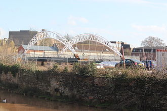 Taunton - The new bridge under construction in the Tangier district. Taken in February 2011