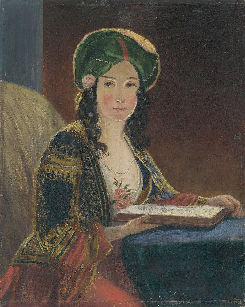 Neznámy maliar - Mladá žena v orientálnom kroji (Die Morgenländerin - kópia) - M 93 - Ernest Zmeták Art Gallery.jpg