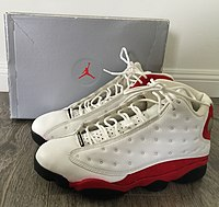 new style 755f6 3aa88 Nike Air Jordan XIII, (White black-varsity red Colorway)
