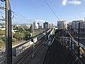 Nishitetsu Kaizuka Line on north side of Nishitetsu-Kashii Station 3.jpg