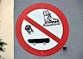 No skateboarding, no inline skating, Zur Spinnerin, Favoriten.jpg