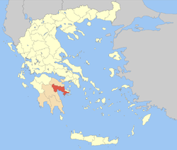 Argolis within Greece