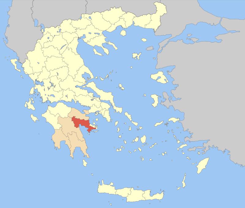 Argolis within Greece