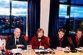 Nordiska radets vanstersocialistiska grupp haller pressmote. Nordiska radets session 2010 (1).jpg