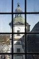 Nordvästra tornet genom fönstret i sydvästra tornet. Exteriör - Skoklosters slott - 87211.tif