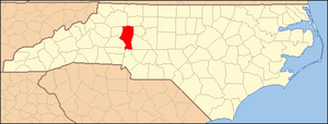 Locator Map of Iredell County, North Carolina,...