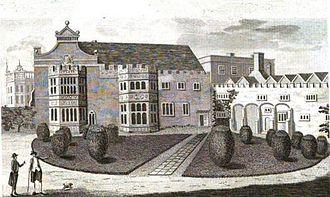 Hinchingbrooke House - North front of Hinchinbrook (1787).