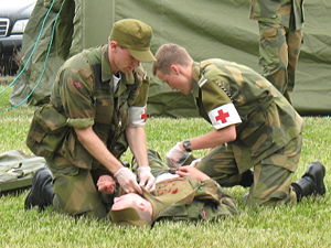 Combat medic - Norwegian medics during an exercise