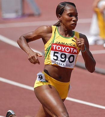 Novlene Williams during Worldchampionships 200...