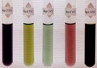 Neptunium - Neptunium ions in solution