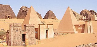 Meroë ancient city along the eastern bank of the Nile River in Northern Sudan
