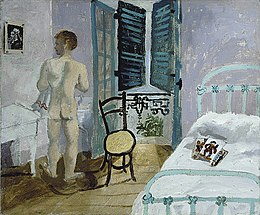 Nude in a bedroom Francis Rose by Christopher Wood 1930.jpg
