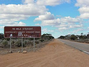 Nullarbor Plain - Road sign